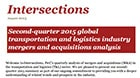 Intersections: Second-quarter 2015 transportation & logistics industry mergers and acquisitions analysis