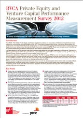 BVCA Private Equity and Venture Capital Performance Measurement Survey 2012ecken.